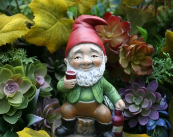 Wine Lover Garden Gnome - Red, White & Cheers to Drinking Garden Gnomes