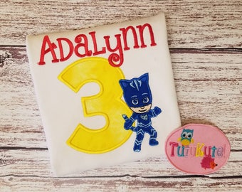 PJ Mask Catboy Birthday shirt FREE personalization