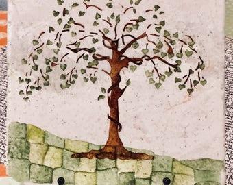 Tree of Life Tile,Tree Art Tile,Wedding gifts,Family Tree,Inspiration Word Art,Personalized Art ,WeddingPersonalization