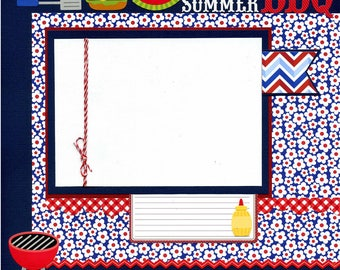 Summer BBQ - 12x12 Premade Scrapbook Page