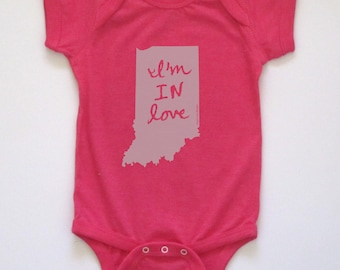 cute baby Onesie®, indiana baby gift, indiana baby boy, indiana baby girl, indiana shower gift, more colors, free ship