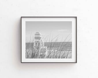 Photography, Black and White Coastal Print, Beach Print, Wall Art, Beach photography, East Coast Print, Monochrome Photography, Nautical