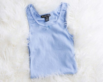 CLEARANCE!!! Sweet Vibes Pointelle Logo Rib Knit Tank Tops
