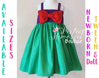 Little Mermaid Dress | Ariel Dress | Girls Mermaid Dress | Toddler Mermaid Dress | Little Mermaid Birthday Party | Baby Mermaid | Mermaids
