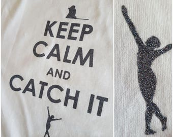 Keep Calm and Catch it glitter colorguard tee