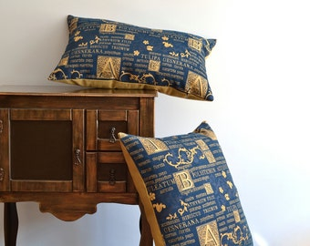 Decorative Monogram Pillow Cover - Lumbar Pillow Cover, Monogram Pillow, Cushion Cover, Throw Pillow