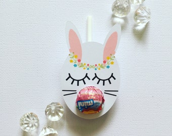 Sleepy bunny MINI lollipop holders