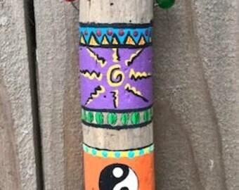Painted Driftwood - Mediation, Spirit (#1)