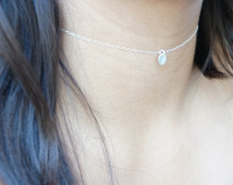 Choker Personalized Necklace Best Friend Gift Choker Necklace Dainty Necklace Gold Chain Birthday Gift Sterling Silver Necklace Custom