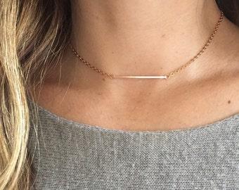 14K Rose Gold-filled Choker Necklace