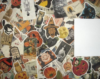 25 Vintage Halloween Ephemera Reproduction Pieces Lot