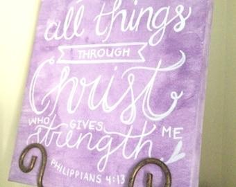 Philippians 4:13 Canvas Painting