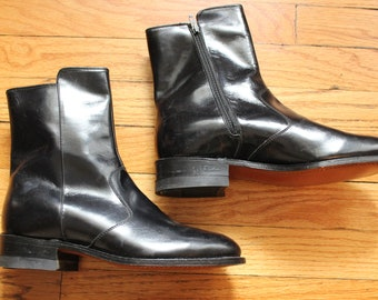 Vintage Goodyear Men's Genuine Black Leather Motorcycle Boots
