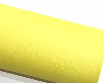 Bright Yellow Smooth Leatherette A4 Faux Leather fabric