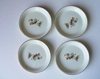 Vintage Royal Gallery porcelain set of 4 coasters in a box. Made in Japan (#EV228)