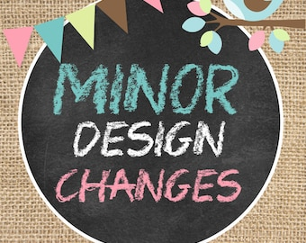 Minor Changes to your files