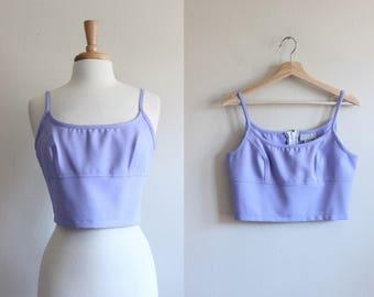 Vintage 1990s XOXO Lavender Crop Top