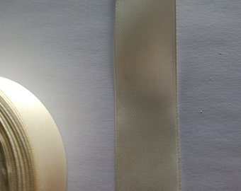 Cream satin ribbon 2.7 cm