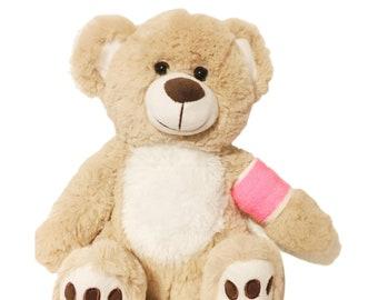 Pink Cast Broken Arm Higgy Bear
