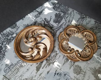 Pair of Circle Decorative Mirrors