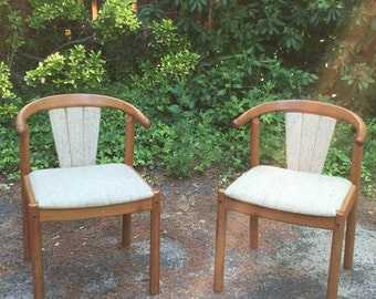 SOLD! • Mid-Century Modern Teak Chairs
