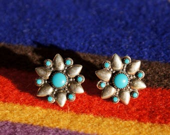 Bell Trading Company Turquoise Star Native Earrings