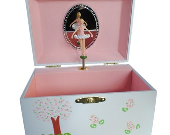 Personalized Musical Jewelry Box African American Ballerina
