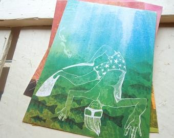 Postcard Swimming