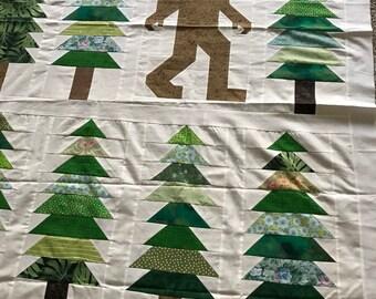 Quilt Top : Sasquatch / Bigfoot #2