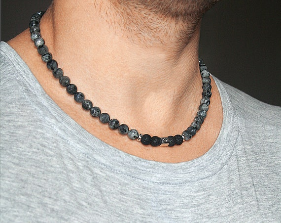 bullet nfscyya mens silver black styleskier for chain oxidized necklaces men com an necklace designs jewellery on