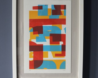 Don't Forget - 3 colour screen print - Typographic collage