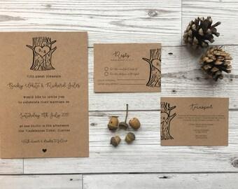 Woodland wedding invites - tree wedding invitations - wedding stationery