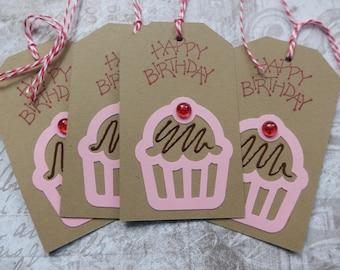 Happy Birthday - cupcake - gift/hang tags  (4)