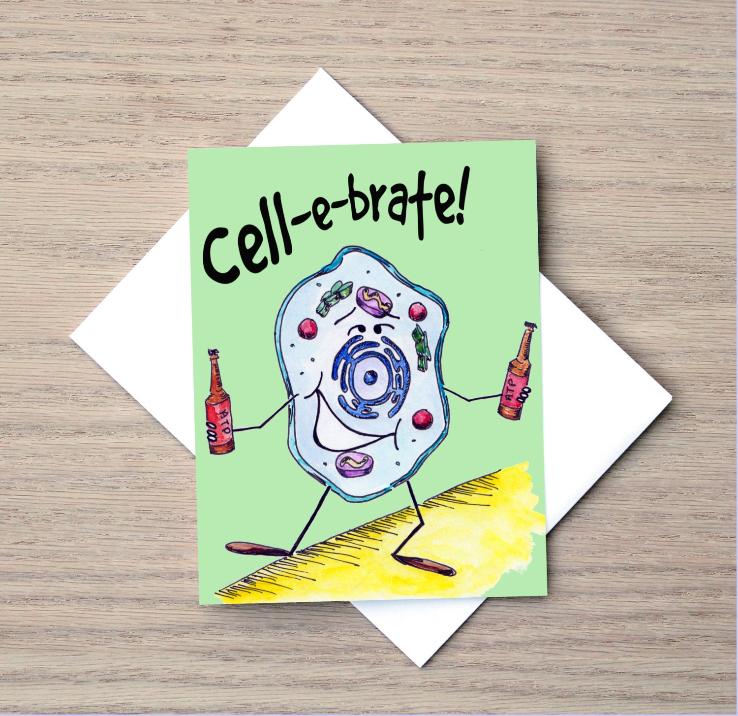 Celebration Card Science Card Pun Card Cell Card