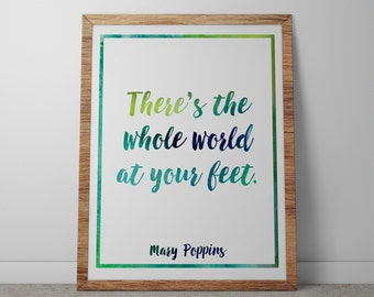 Poster / Print - Disney Mary Poppins Movie Quote - 3 Sizes Available