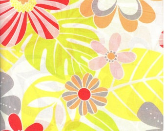 Fabric big flowers print