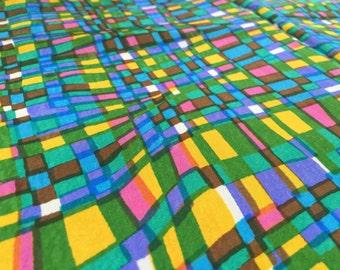 Vintage silk silk fabric: crazy pattern 50cmx 110cm