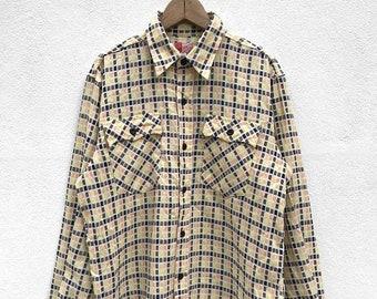 ON SALE 20% OFF Vintage Sugar Cane Long Sleeve Button Up Double Pockets / Sugar Cane Japan / Japanese Brand / Sugar Cane Usa
