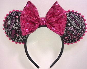 Breast Cancer Awareness Mickey Ears