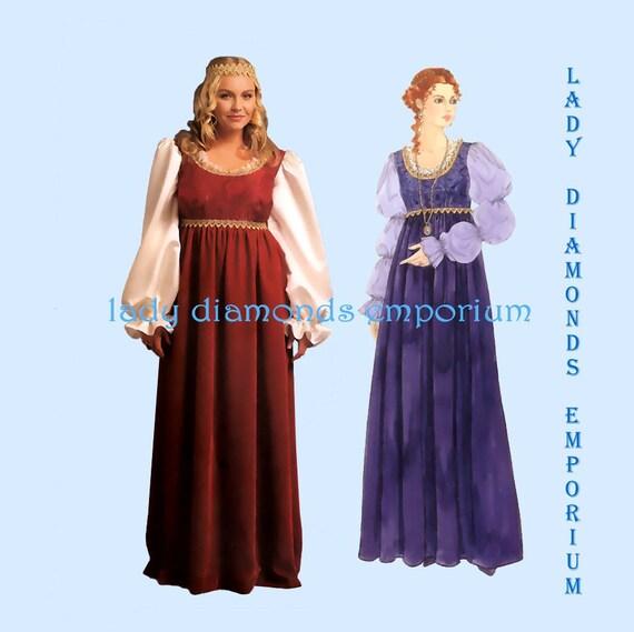 McCalls M5647 Womens Empire Waist Renaissance Gown Medieval Dress ...