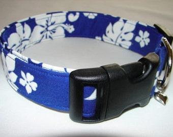 Royal Blue Hawaiian Dog Collar