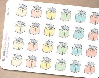 Tissue Box Planner Stickers Perfect for Erin Condren, Kikki K, Filofax and all other Planners