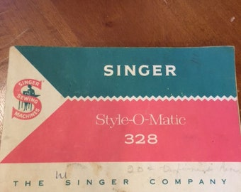 ORIGINAL Singer Sewing Machine manual Style-O-Matic