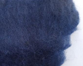 Merino Wool Roving - Navy - 1 oz