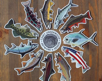 "5"" FISH DECALS"