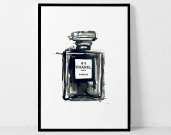Coco Chanel Print, Chanel Paris Parfum, Chanel Decor, Chanel Poster, Chanel Quote, Chanel Wall Art, Fashion Print, Girls Room Wall Art