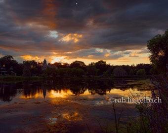 Sunset Cloudscape, Lake of the Isles, Minnesota.