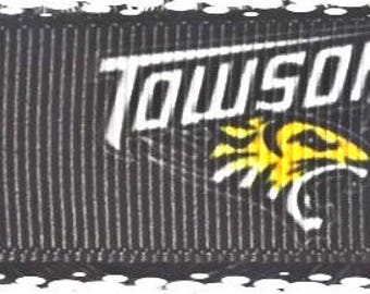 1 Inch Wide Townson Tigers Grosgrain Dog Collar