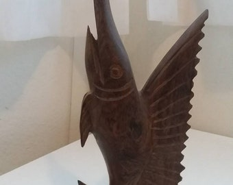 Vintage Ironwood Hand Carved Swordfish