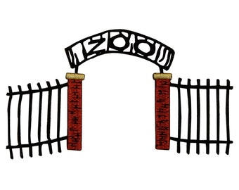 ID 0050 Zoo Gates Embroidered Iron On Badge Applique Patch